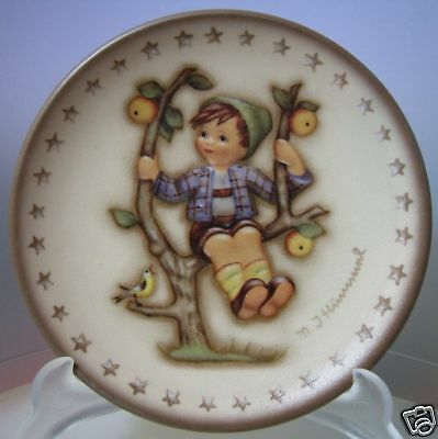 "M.i.hummel ""apple Tree Boy Mini Plate"" Hum 977 Mib"