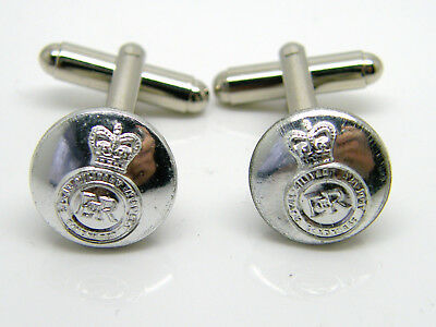 The Sandhurst Military Academy Regiment Army Button Badge Cufflinks Gift Pouch