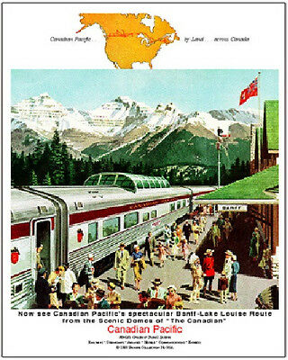 CANADIAN PACIFIC RAILROAD TIN SIGN  / Canada Trains