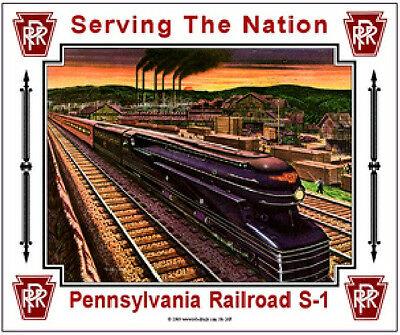 Pennsylvania  Railroad  S-1 Tin Sign  / Prr  / Train