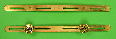 4 RIBBON HOLDER MOUNTING BAR BRASS - 4 in a row U.S. Military Rack - Made in USA