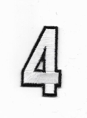 "1"" Number 4 Embroidered Iron On Applique Patch wx0020"