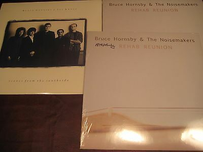 BRUCE HORNSBY Scenes South Side 1988 ORIGINAL BMG & REHAB REUNION SIGNED LP SET