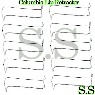 10 Columbia Lip Retractor Surgical Dental Instruments