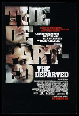 THE DEPARTED * CineMasterpieces 1SH ORIGINAL MOVIE POSTER 2006 ADV NM-MINT DS