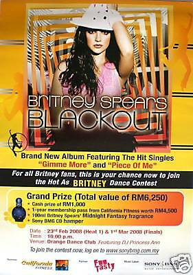 """Britney Spears """"blackout"""" Promo Poster From Malaysia"""