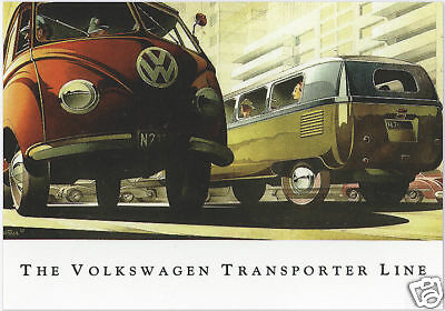 VW TRANSPORTER TYPE 2 - A series of 6 Collectors Cards