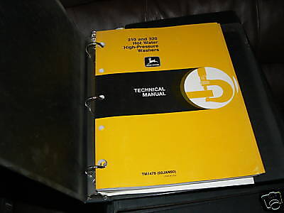 John Deere 310 320 Hot Water Pressure Technical manual