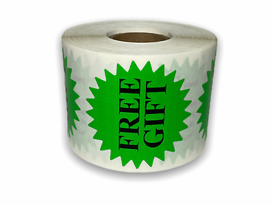 "500 Labels 2"" Green (only) FREE GIFT Starburst Mailing Shipping Stickers 1RL"