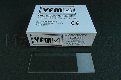 Microscope Slides: Frosted end (Pack of 100)