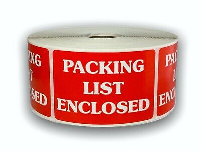 500 Labels 2x3 PACKING LIST ENCLOSED Special Handling Shipping Mailing Stickers