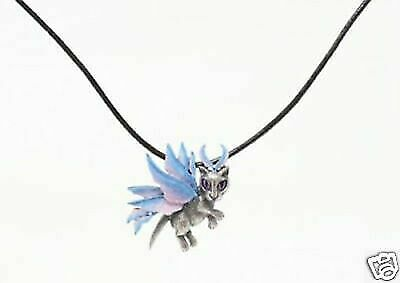 New Carrie Hawks Winter Snowflake Cat Fairy Necklace