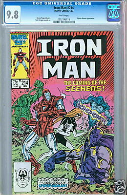 Iron Man #214 White Pages Highest CGC 9.8