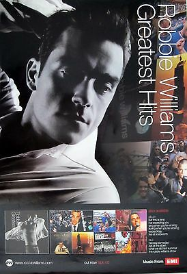 """ROBBIE WILLIAMS """"GREATEST HITS"""" ASIAN POSTER - Take That"""