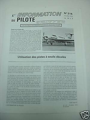 L'information Du Pilote  N° 216 / 25 Janv 1978 Aviation