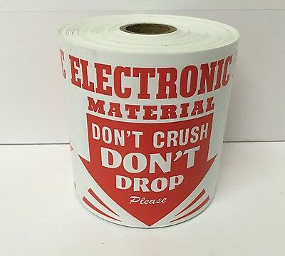 100 4x4 Electronic Devices Don't Crush Drop Labels