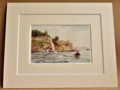 Dartmouth Very Rare Antique Double Mounted Print 1908 10X8 Overall M Randall