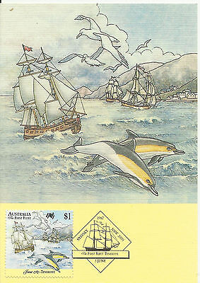 Australia 1987 First Fleet $1 Official Maximum Card #6