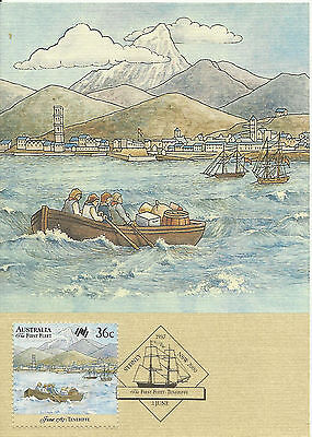 AUSTRALIA 1987 FIRST FLEET 36c OFFICIAL MAXIMUM CARD #7