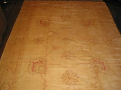 Antique  Anatol Oushak Turkish Hand Knotted Rug B-7409