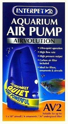 Interpet Airvolution AV2 Aquarium Fish Tank Air Pump AV 2