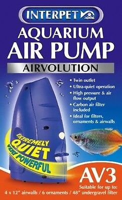 Interpet Airvolution AV3 Aquarium Fish Tank Air Pump