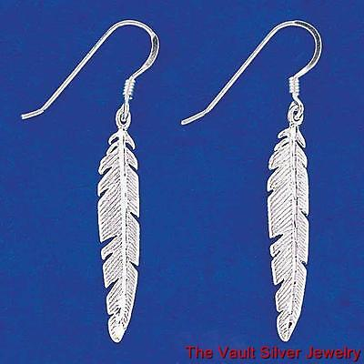 Sterling Silver Feather Earrings 11160