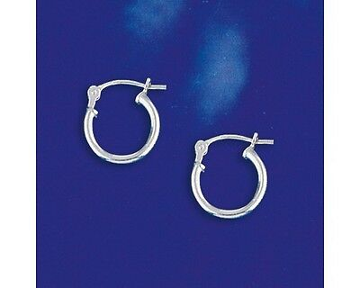 12mm Small Sterling Silver Hinged Hoop Earrings 2016
