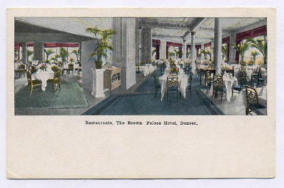 DENVER CO BROWN PALACE HOTEL 3 DIF OLD POSTCARDS PC7000