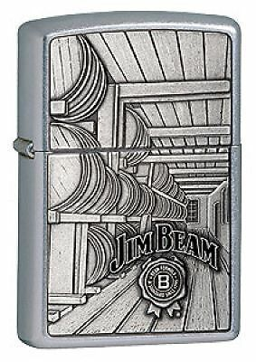 Jim Beam Barrels Emblem Zippo Lighter (24442)