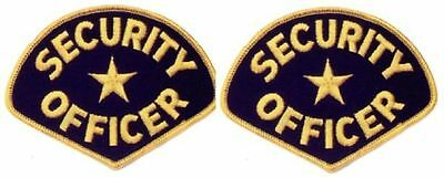 2 (Two) Security Guard Officer Uniform Patch Badge