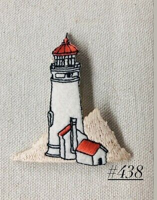 1PC ~HARBOR  LIGHTHOUSE~IRON ON EMBROIDERED APPLIQUE