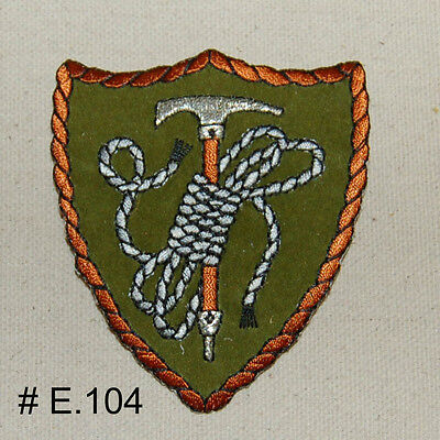1PC~MOUNTAIN CLIMBING ROPE~IRON ON EMBROIDERED APPLIQUE