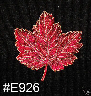 1PC~FALL LEAF~IRON ON EMBROIDERED APPLIQUE