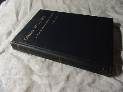 1896 KNOWLEDGE DUTY and FAITH: Study of Principles - Sir T D ACLAND 1st edition