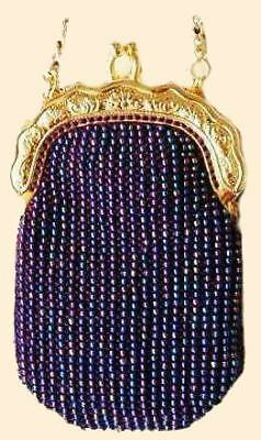 CALISTA beaded knitting purse kit, bead knit bag beads