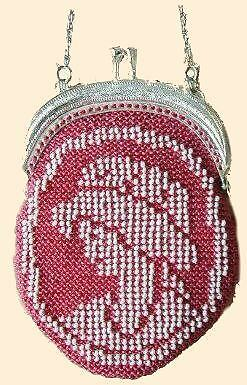 VICTORIA beaded knitting purse kit, bead knit bag beads