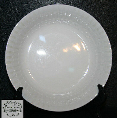 Franciscan Leeds White Coupe Soup Bowl England