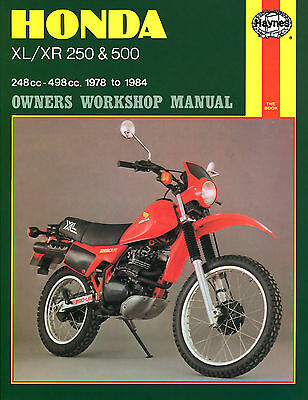 Haynes Manual 0567 - Honda XL250, XL500, XR250, XR500 78-84 workshop/service