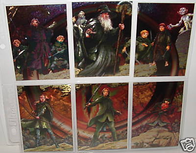 Lord Of The Rings Masterpieces 1-Etched Foil Insert Set