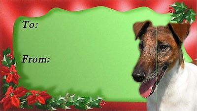 Smooth Fox Terrier Christmas Labels by Starprint