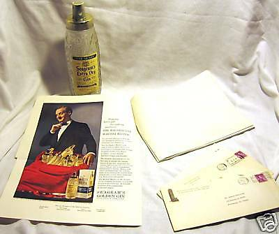 1958 Seagrams Glass Martini Master With 8 Original Ads