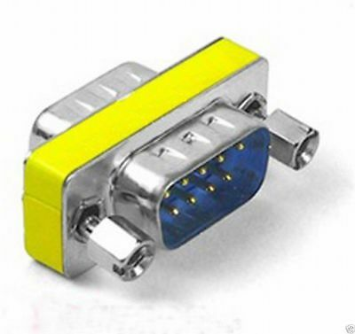 9 pin Serial Gender Changer Adapter Male to Male RS232