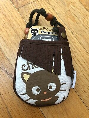 Sanrio Chococat Cell phone pocket Cellular Brown Canvas