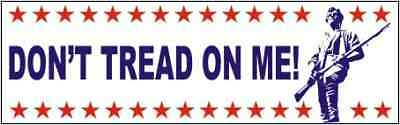 ANTI OBAMA Don't Tread On me TEA PARTY  BUMPER STICKER