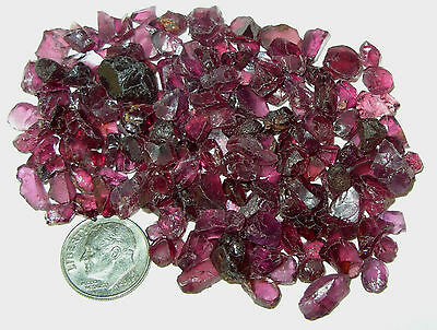 250ct Lot Tanzania Magenta Rhodolite Facet Rough