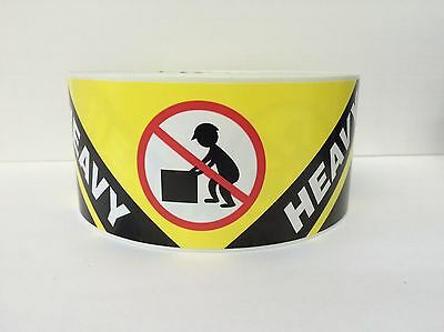 500 Labels 2.5x8.125 HEAVY Lift with Caution Special Handling Stickers Rolls