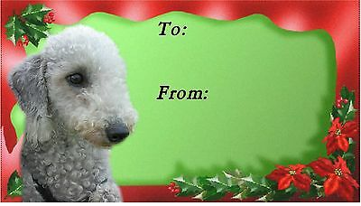 Bedlington Terrier Christmas Labels by Starprint - No 1