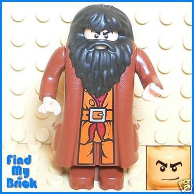 HP323 Lego Harry Potter Hagrid Minifigure with Custom Black Eyebrows Head - NEW