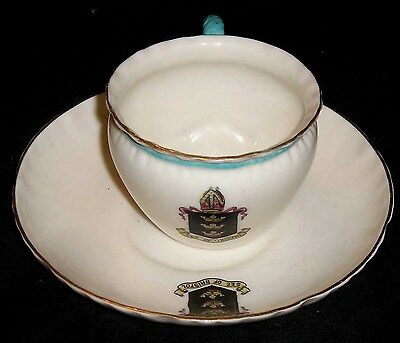 Goss City Of Bristol Demi Tasse Cup And Saucer